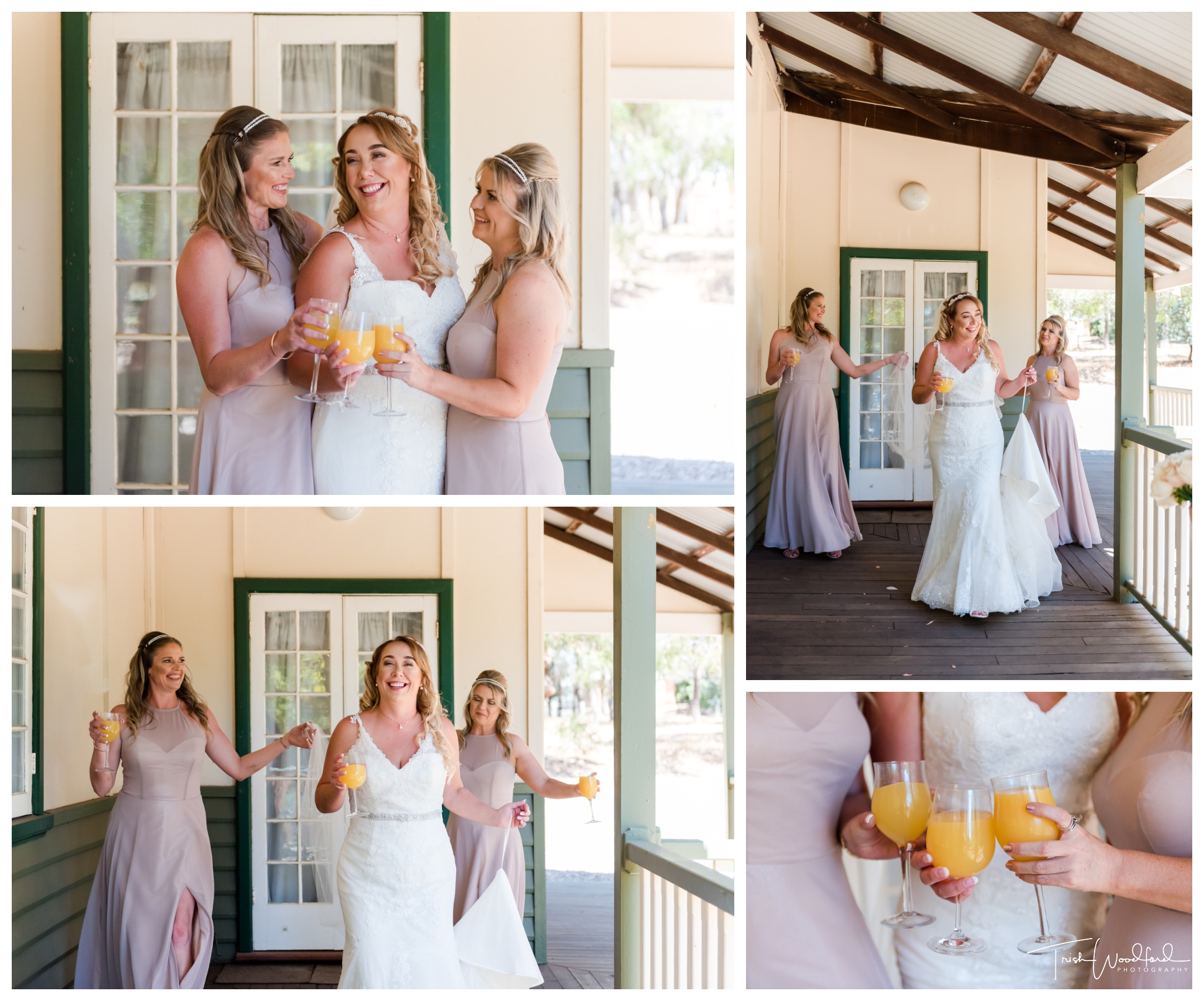 Bride and Bridesmaids Fairbridge Wedding