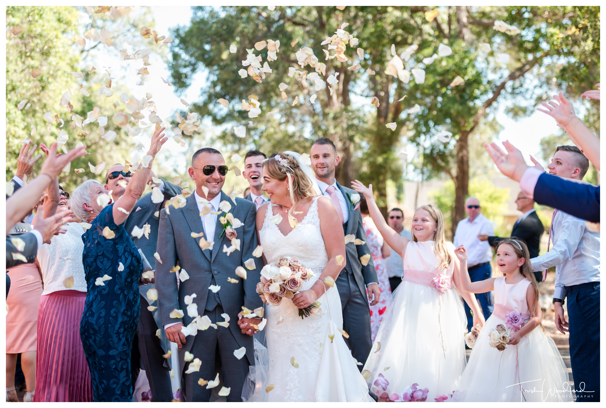 Petal Throwing Fairbridge Wedding