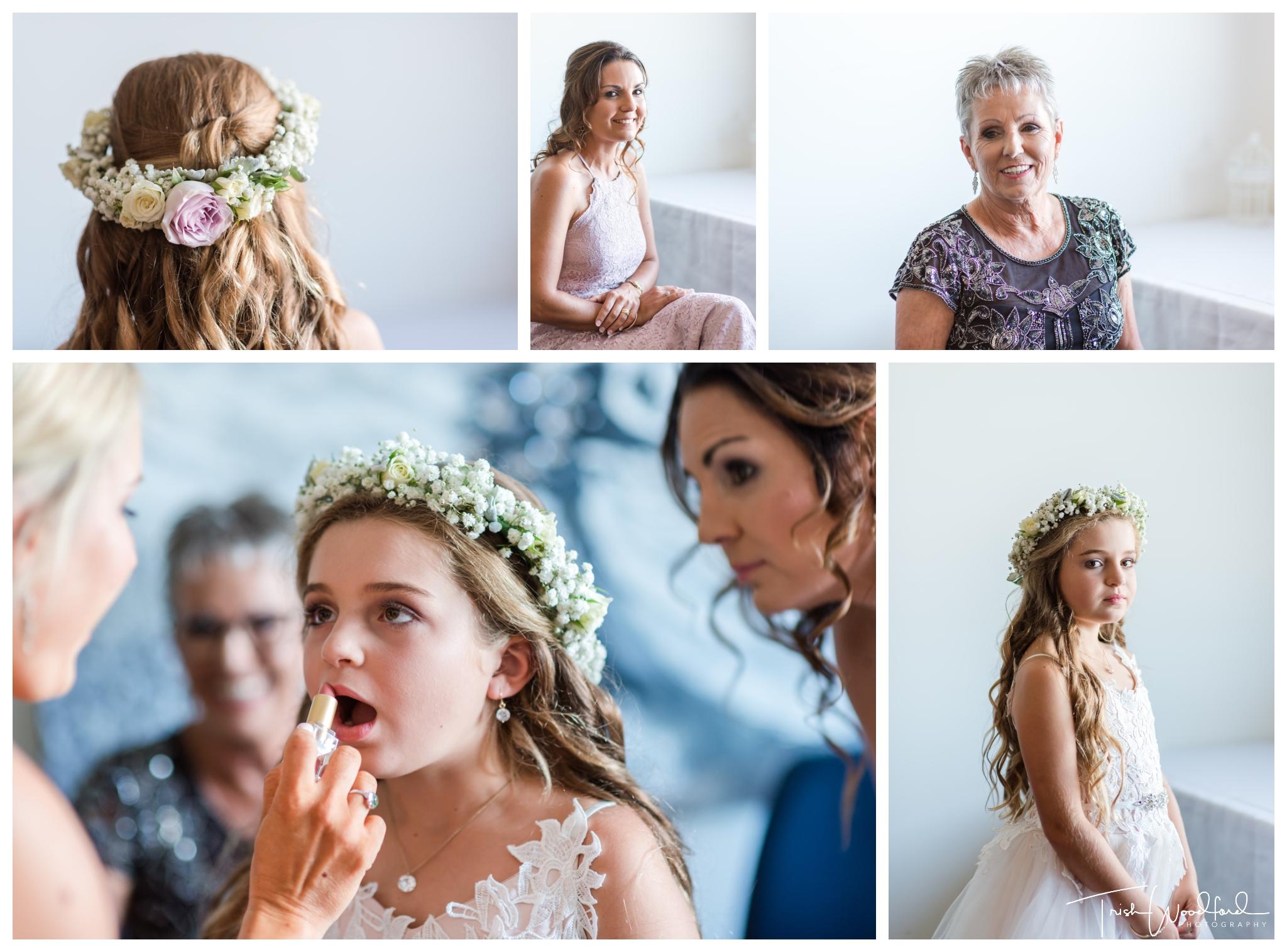 bridesmaid and flowergirl masonmill