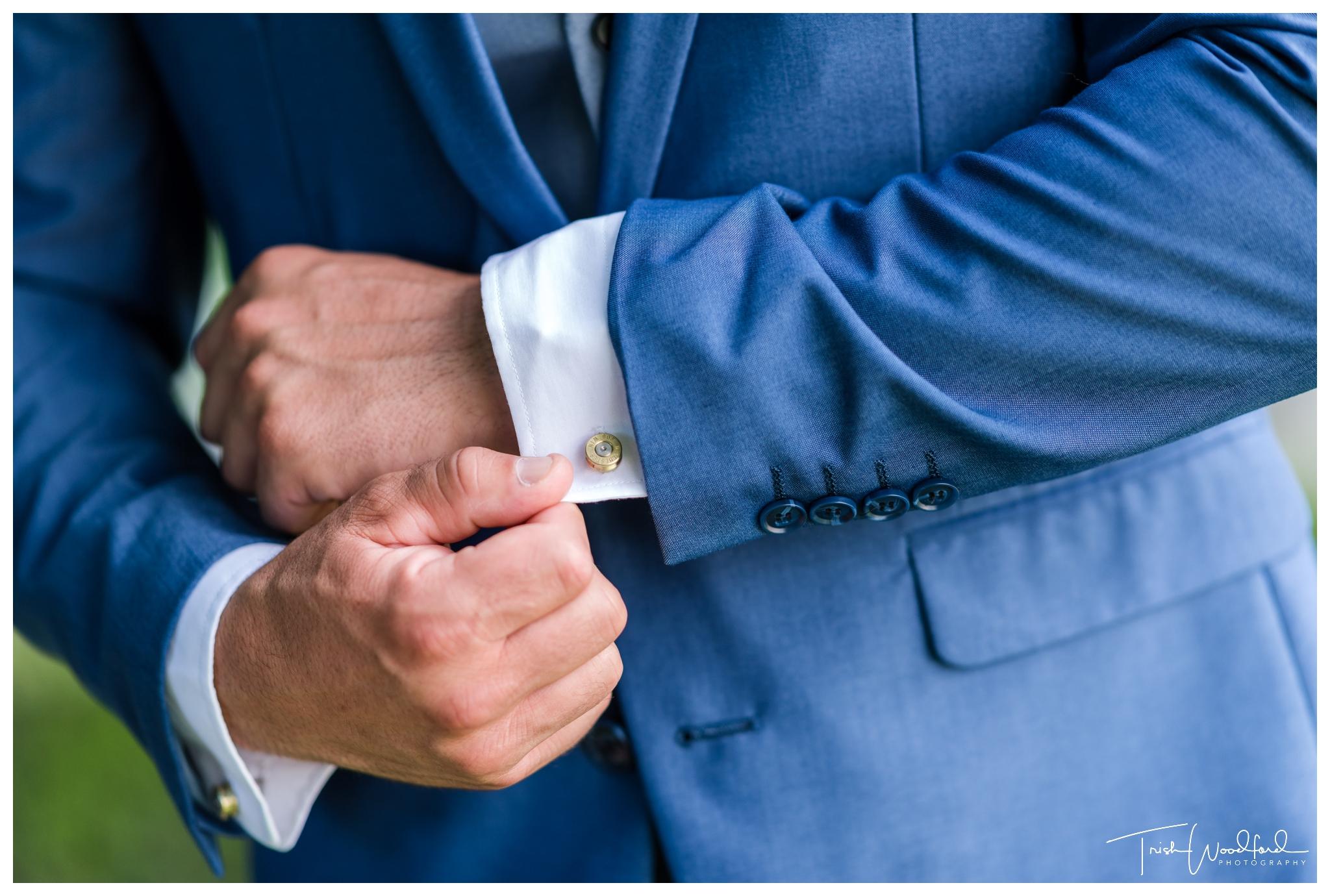 groom detail masonmill wedding