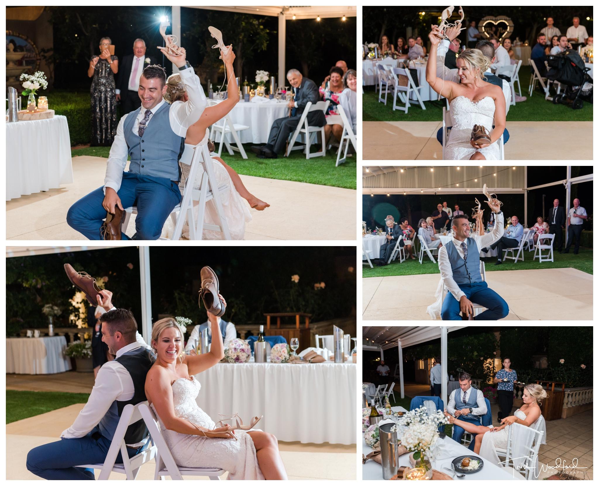 shoe game masonmill wedding reception