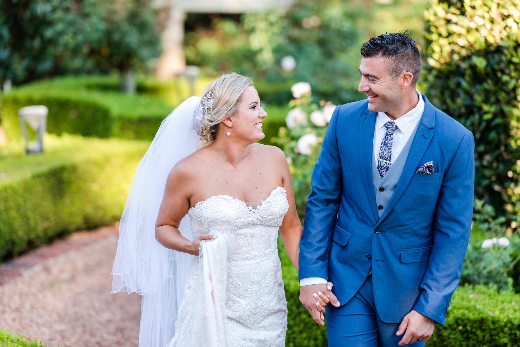 Bride and Groom Masonmill Wedding