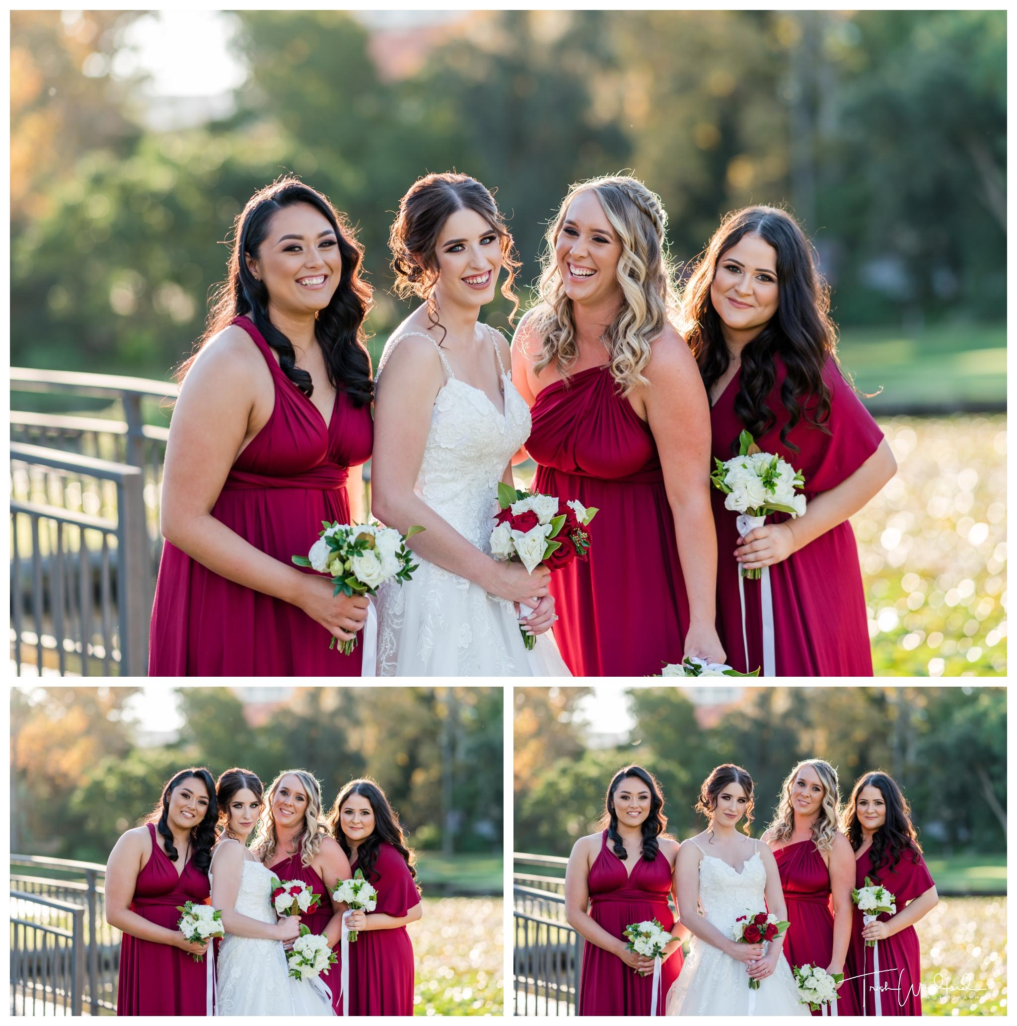 bride-bridesmaids-queens-gardens
