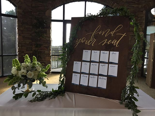 Find your seat 🍽#moderncalligraphy #tableassignment #weddingsigns
