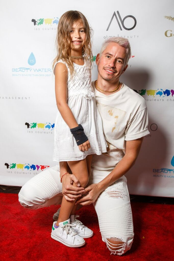 Miami artist Santlov, with his daughter Stella