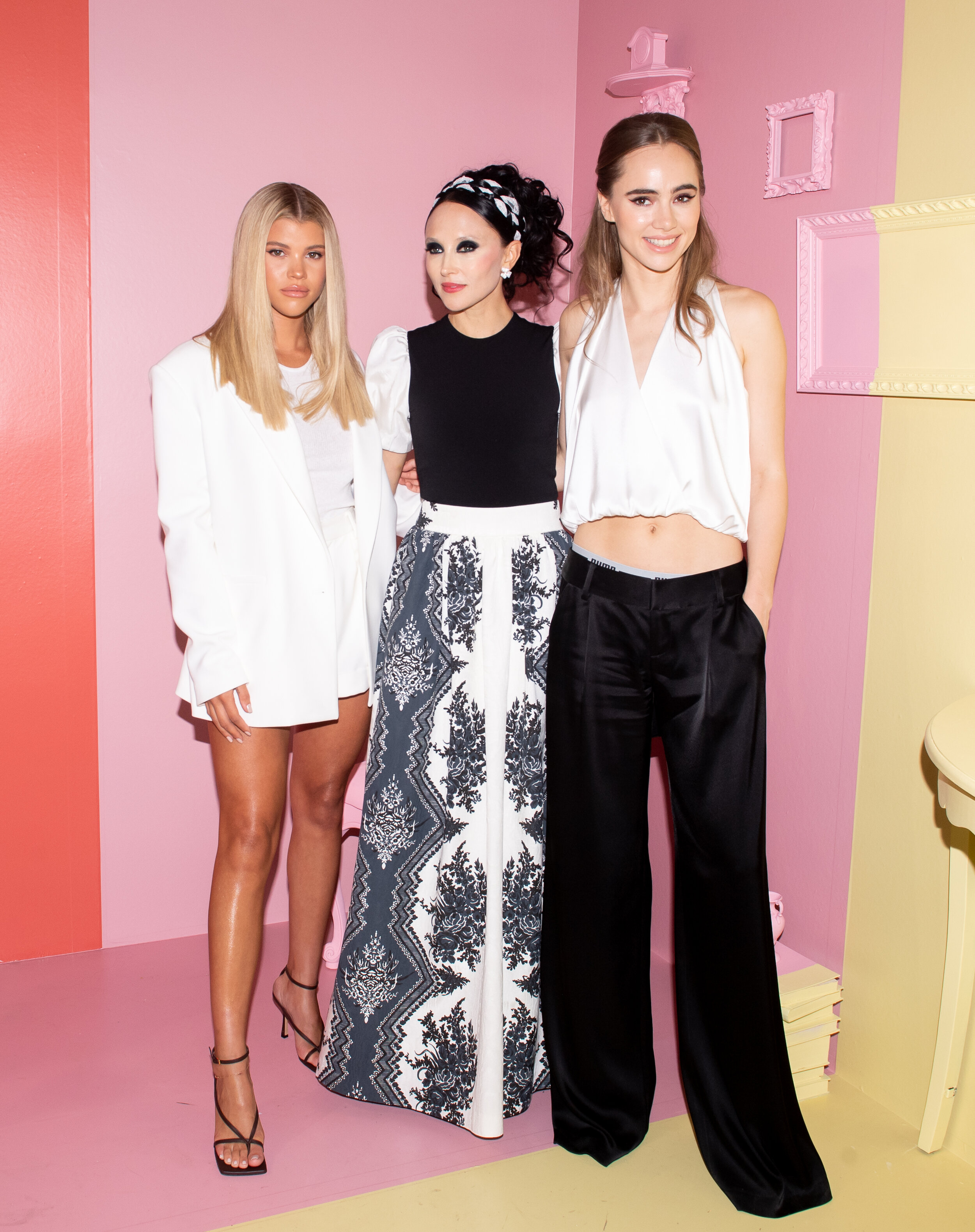 Sofia Richie, Stacey Bendet, Suki Waterhouse. Photograph by Hunter Abrams