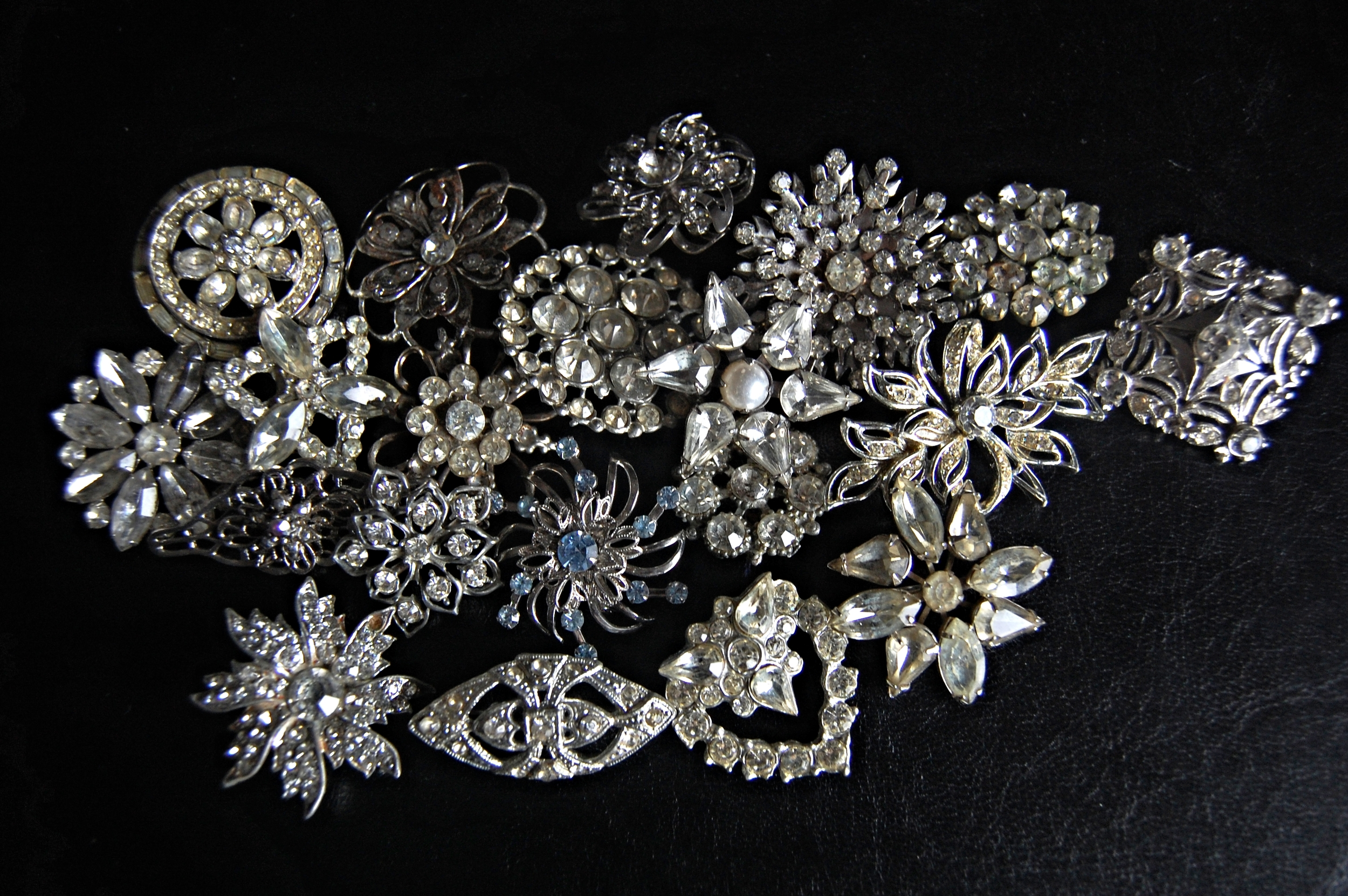 Antique brooches from 1920s-60s