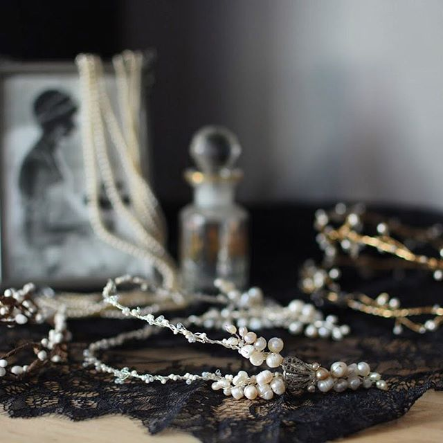 Details, details in fading evening light. A few of our Edward inspired headpieces, antique pearls, and a soft print of Natica Nast, in Vogue 1920 (daughter of famed media mogul Condé Nast). If only my dresser looked like this all the time... • • • #artdecowedding #vcbride #vancity #edwardian #vancouver #artdecobride #mybluebrocade #vancitybuzz #vancitybride #vintagebridal #1920swedding #vintagewedding #vancouverbridal #vancouverweddings #vintageweddingstyle #hairvine #engaged #gettingmarried #fiance #feyonce #hairaccessories #bridalhair #bridesmaids #bridalaccessories #bridalhairaccessories #bluebrocade #bcbrides #bcweddings #yvr #etsyca