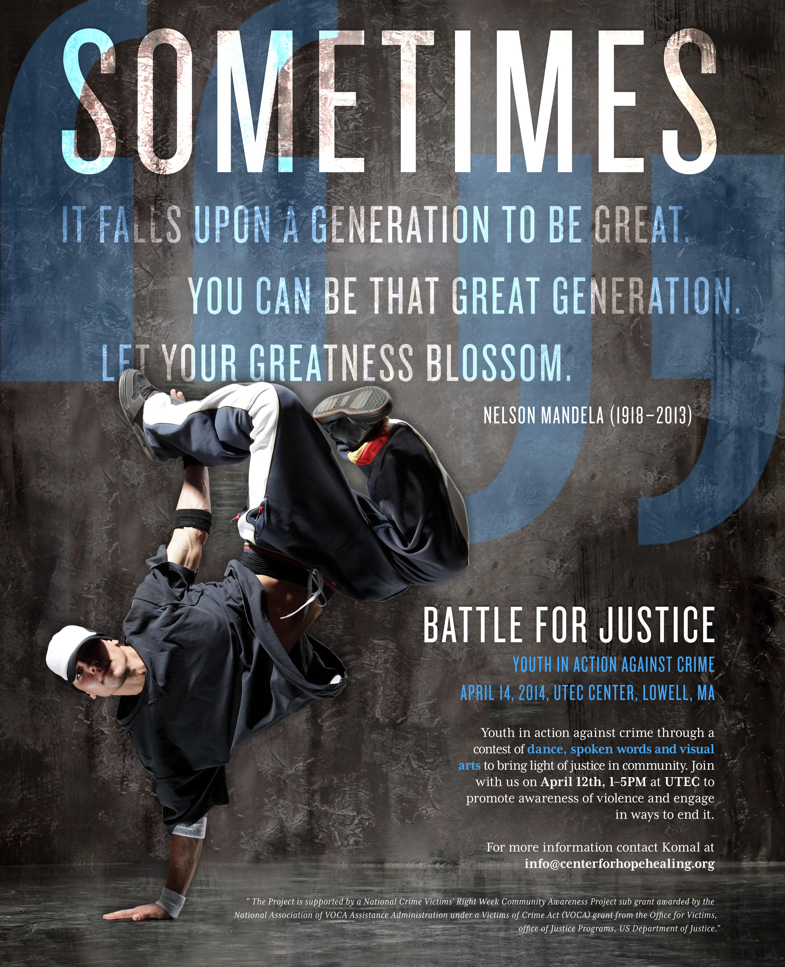 "Proposed concept for Center for Hope & Healing's ""Battle for Justice"""
