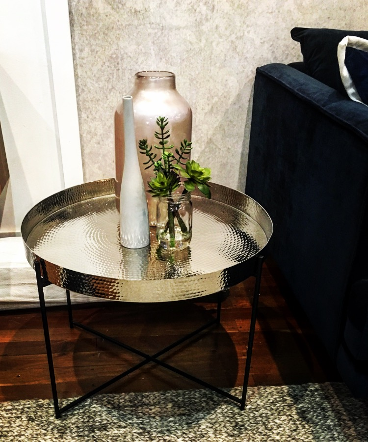 Introduce some metal into your living room or bedroom with some beautiful side tables like these ones in a beaten finish.