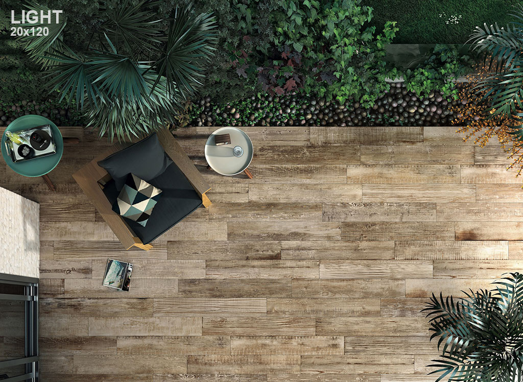 Scrapwood timber look tiles are absolutely stunning and are perfect to use in your outdoor area