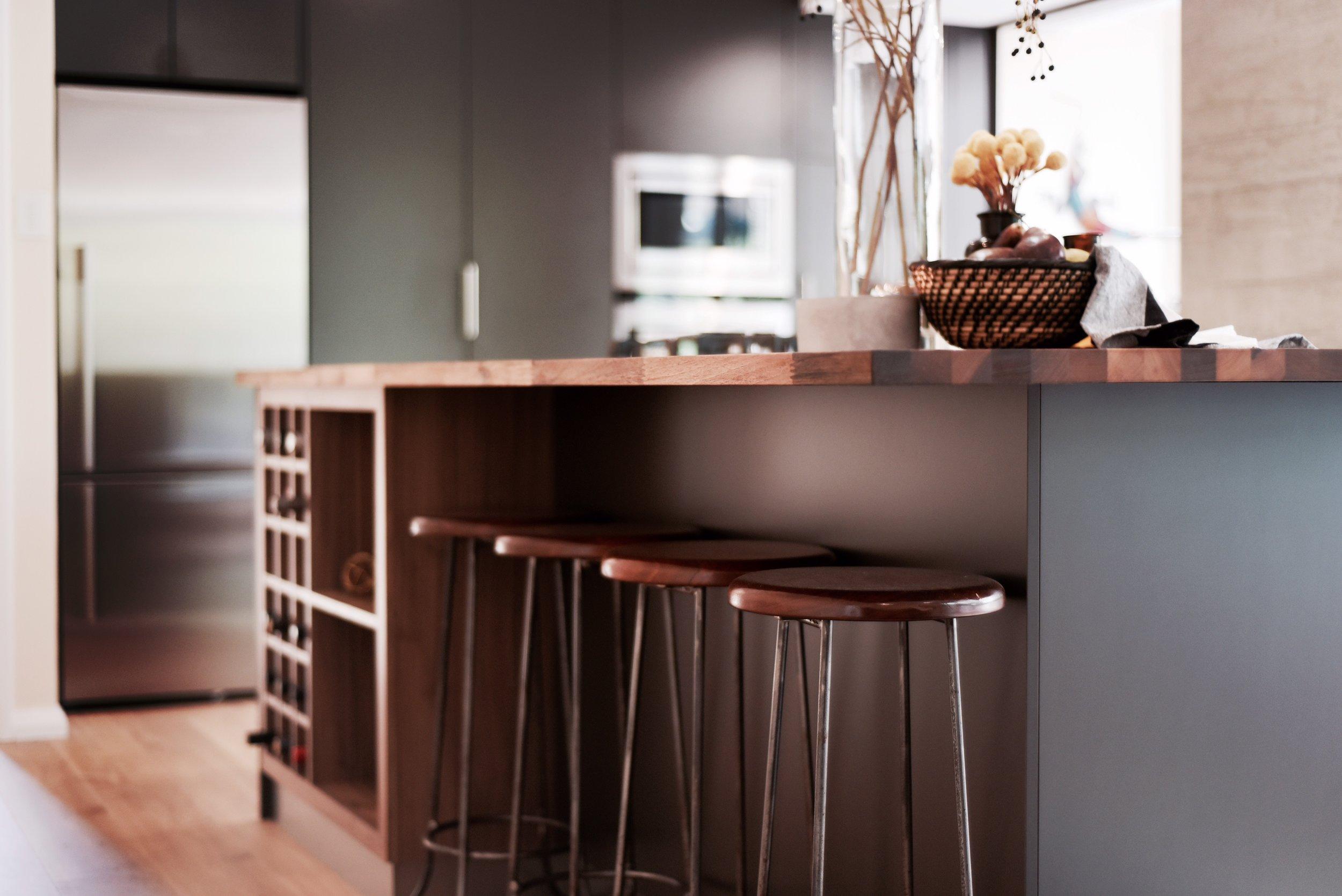 Black Kitchen Timber Top