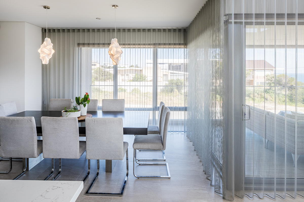 Sheer Curtains with Blockout Rollers