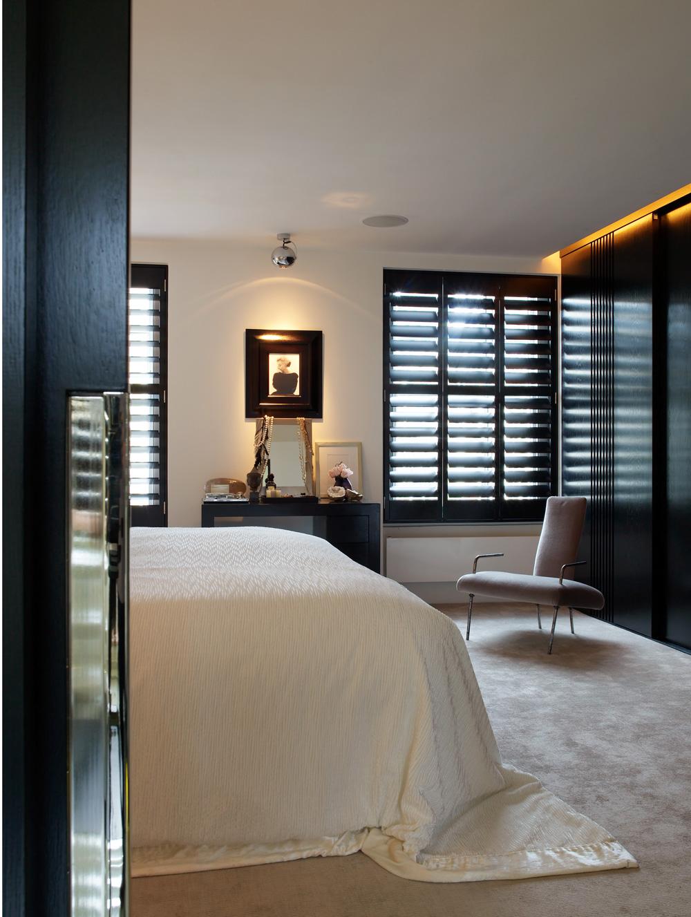 Black Bedroom Shutters