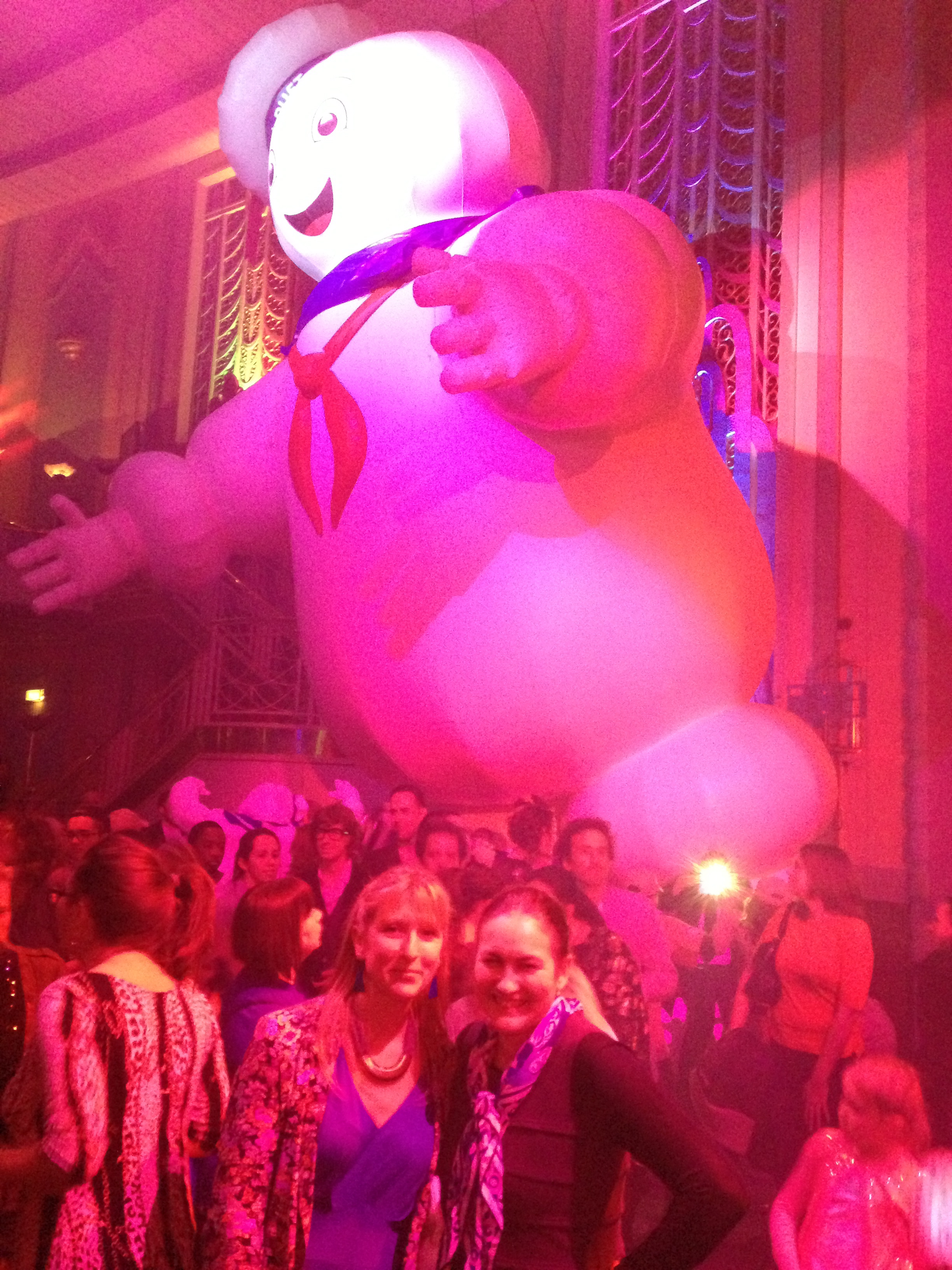 Photo from the event - yes, Stay Puft Man appeared - both on the screen and in the Troxy - fabulous!
