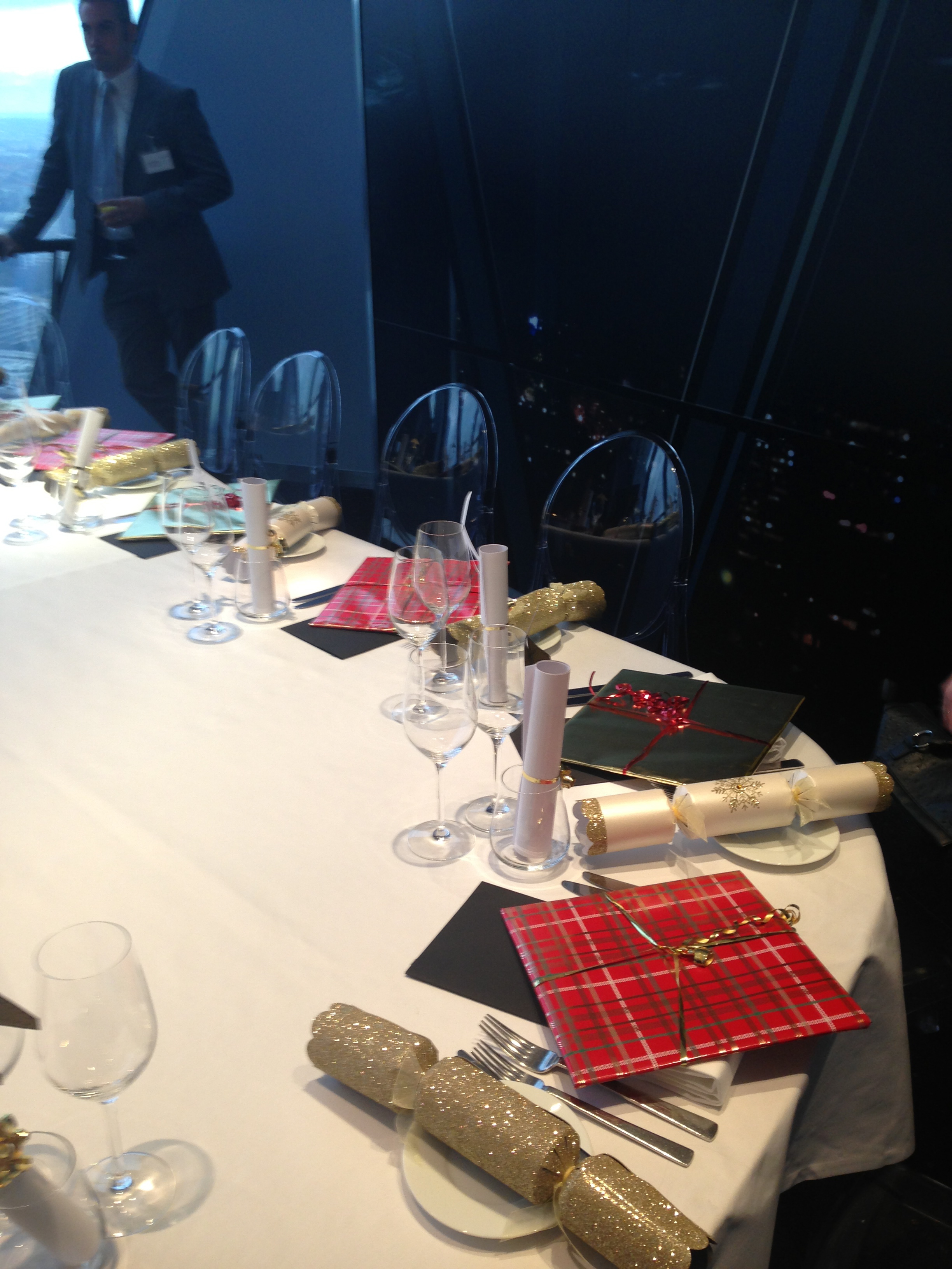 Wrapped '360˚ at the Gherkin' books at the Singleton PR lunch in Searcys The Gherkin's Hennessy Private Dining Room