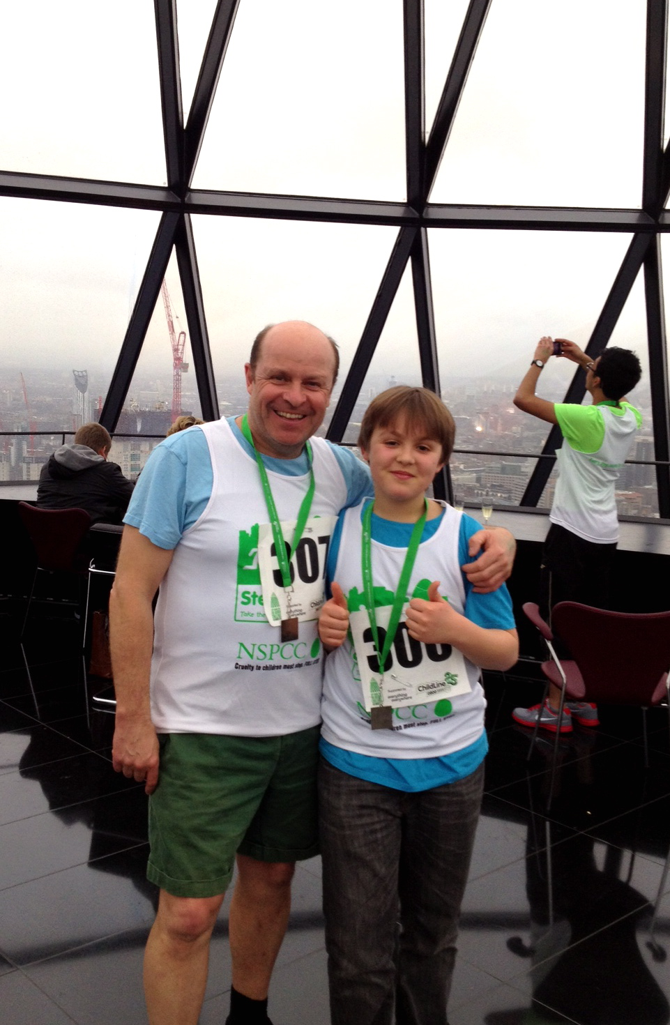 Johnny and Ben after completing the 2012 fundraiser.