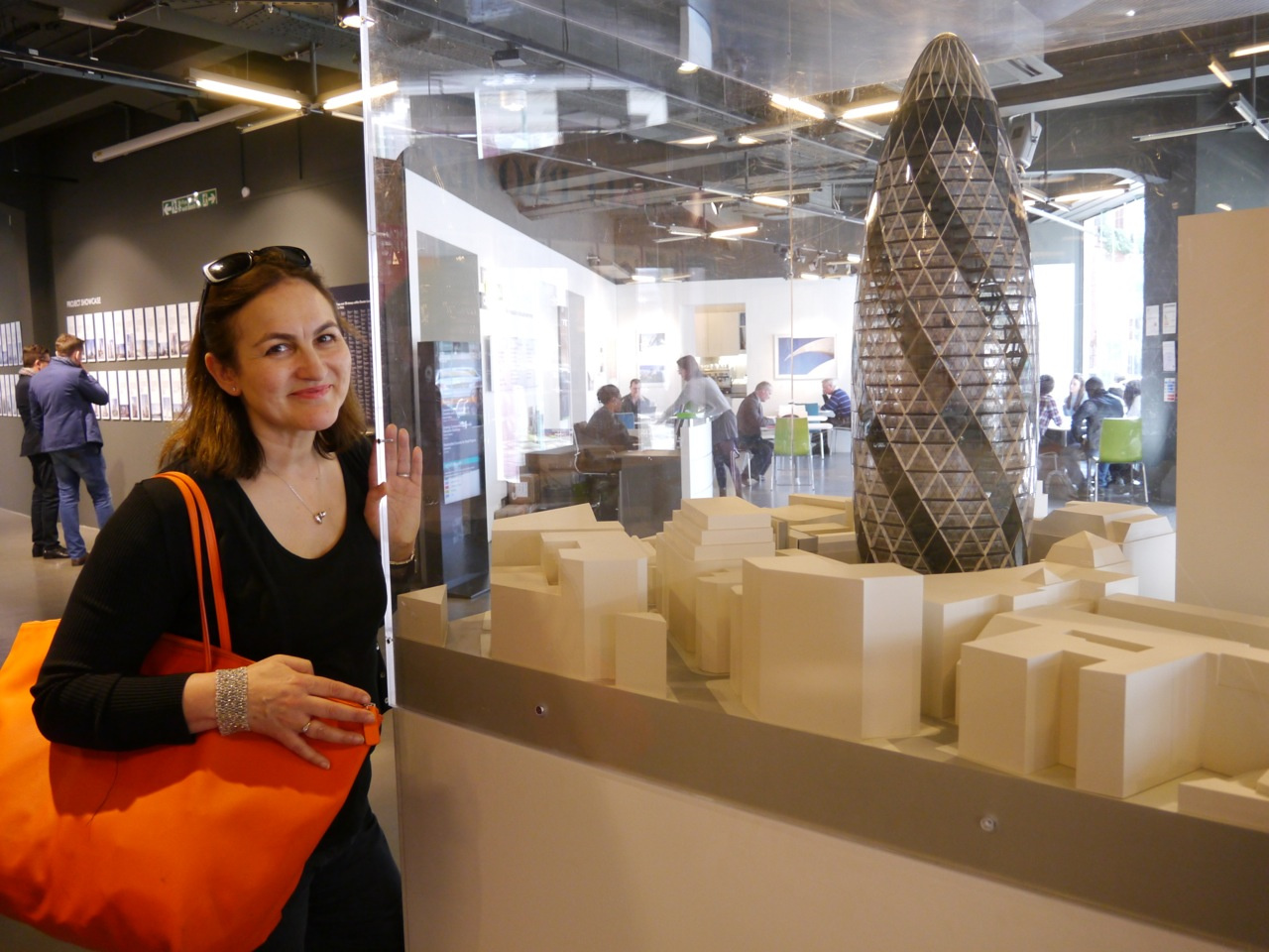 The model of the Gherkin is on display in the NLA's fantastic 'London's Growing Up' exhibition.