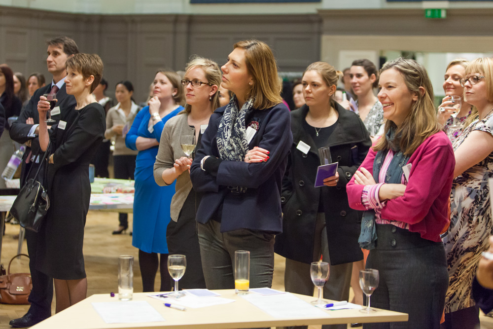 The event attendees were great - Jo Shaw (blue dress) from Rosa UK was one of our charity speakers and did brilliant job later in the evening and I'm glad to see Rebecca Stevenson, Chair of RBS Focused Women's Network (pink cardigan) was having a good time. Photo ©Mark Beazley, RBS Photoclub