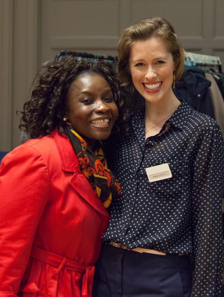 If there was a 'Best Smile In The Room Award' it would go to these two! Entrepreneur Natalie James of The Make Up Debate with Sekinah Oshodi who won the 'Shop With A Make-Up Artist' package in the prize draw.  Photo ©Mark Beazley, RBS Photoclub