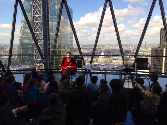 The children have lots of questions about the Gherkin.