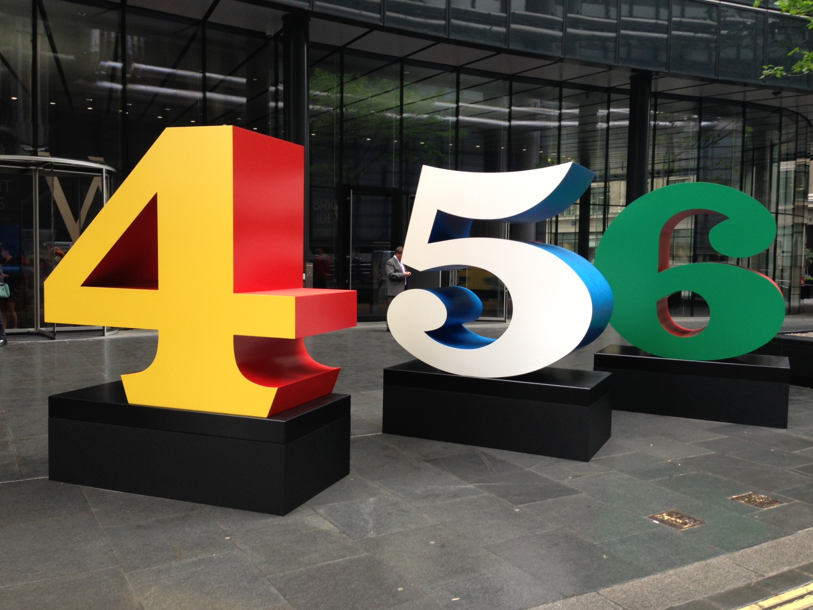 The 4, 5 and 6 from Robert Indiana's beautiful 'Numbers One Through Zero'