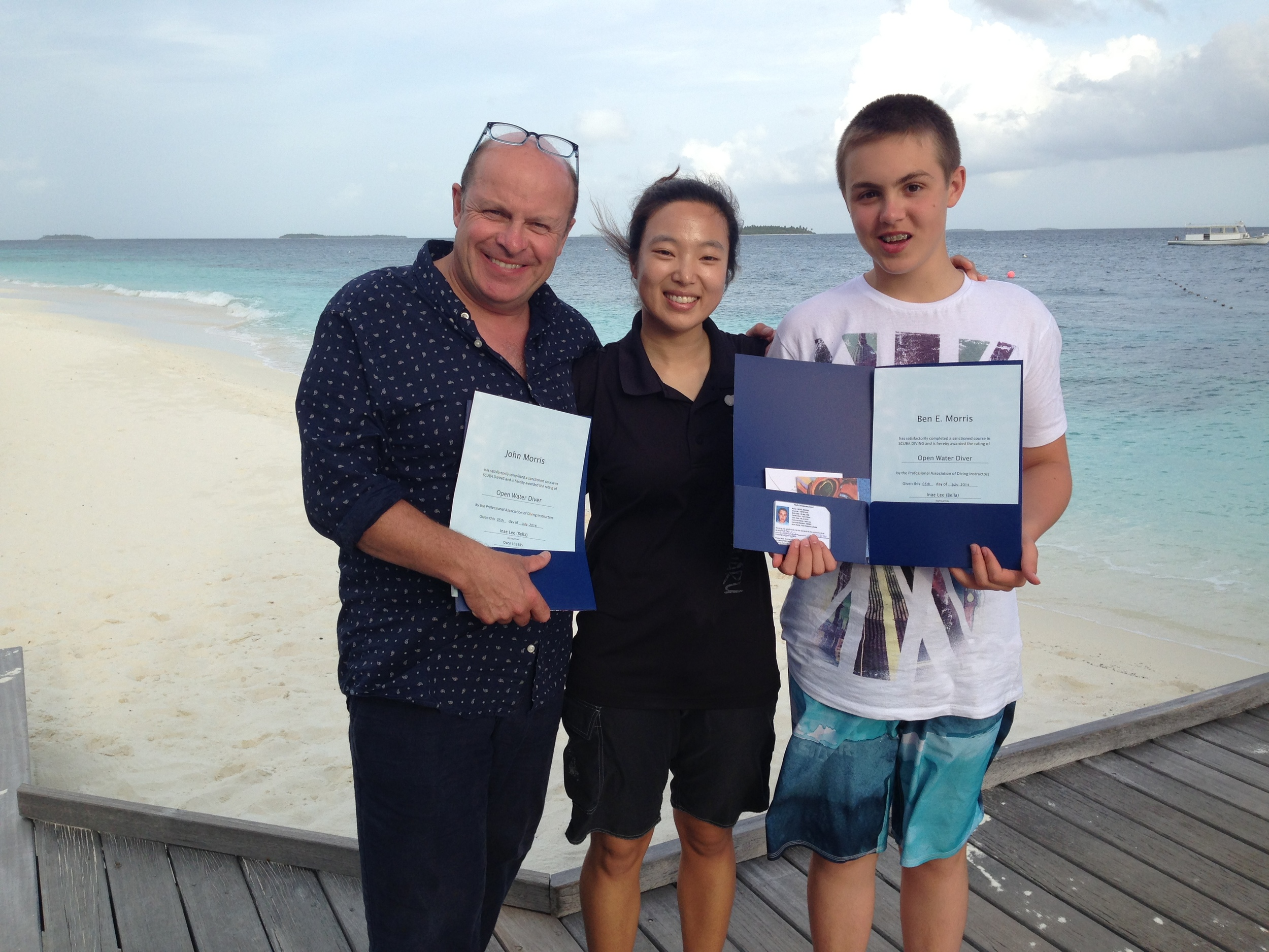 The wonderful scuba instructor Bella, who took Johnny and Ben through their PADI course and let Ben observe her teaching for his work experience.