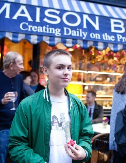 Ben at Timothy Spall's art exhibition at Maison Bertaux.  Photo© Joe Plimmer