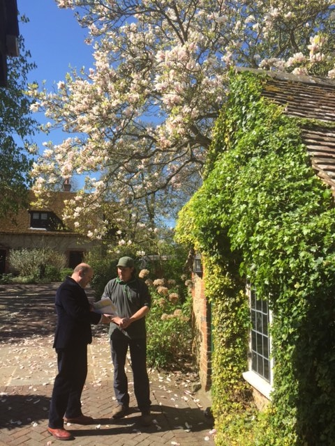 Tour of the gardens at Le Manoir Aux Quat'Saisons with the enthusiastic and informative John
