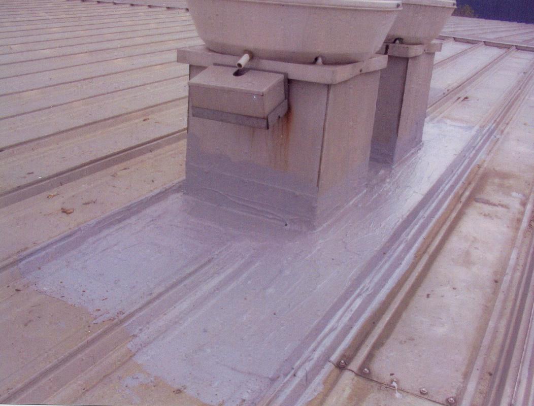 Sealing a metal roof leak