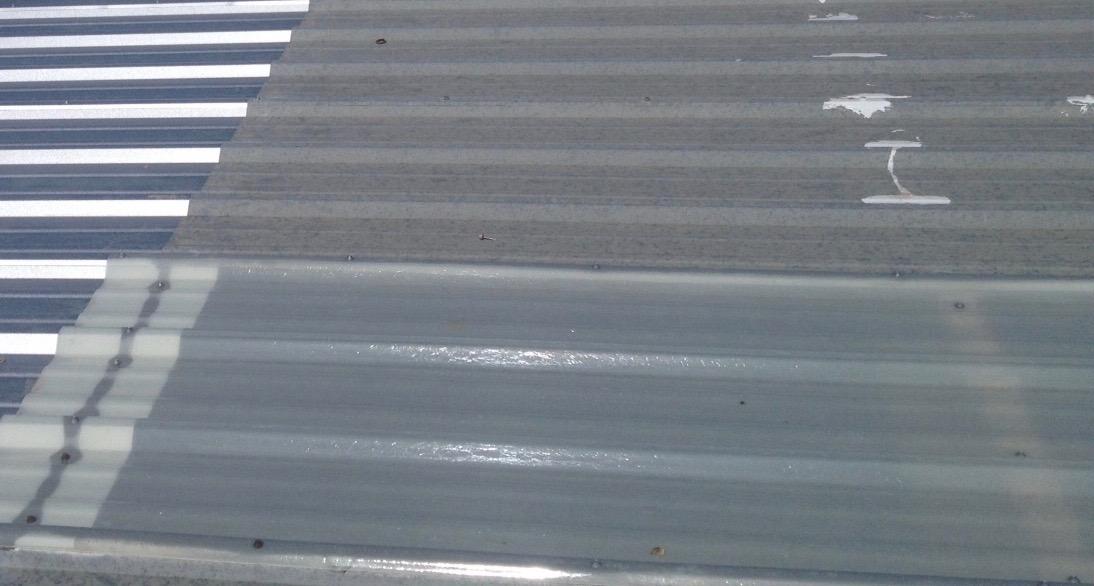 New metal roof skylight panel