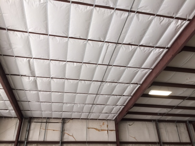 This is after the new retrofit insulation was installed on the ceiling, walls next.