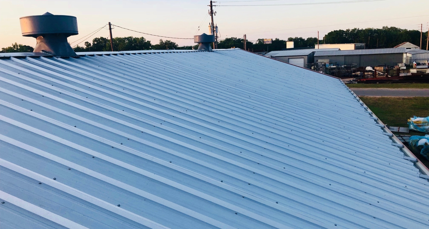 The roof looked great also, we re-used the building owners ridge vents.
