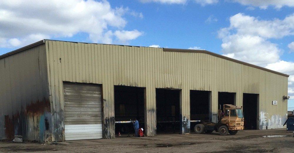 Before repairing metal building wall panels, overhead frame, J trim, and corner trim ... simple repair