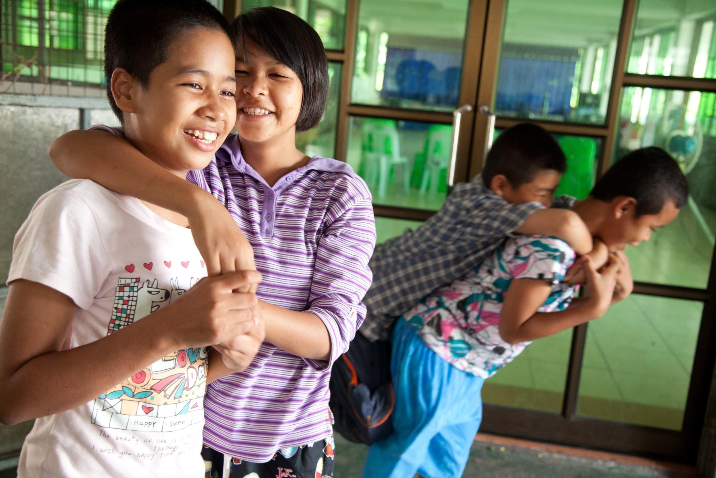 Some of the children in Dramaraksa.