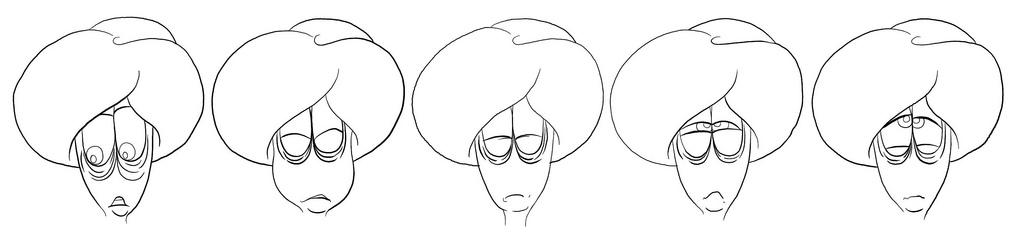 Cleaned up and inked hand-drawn frames.