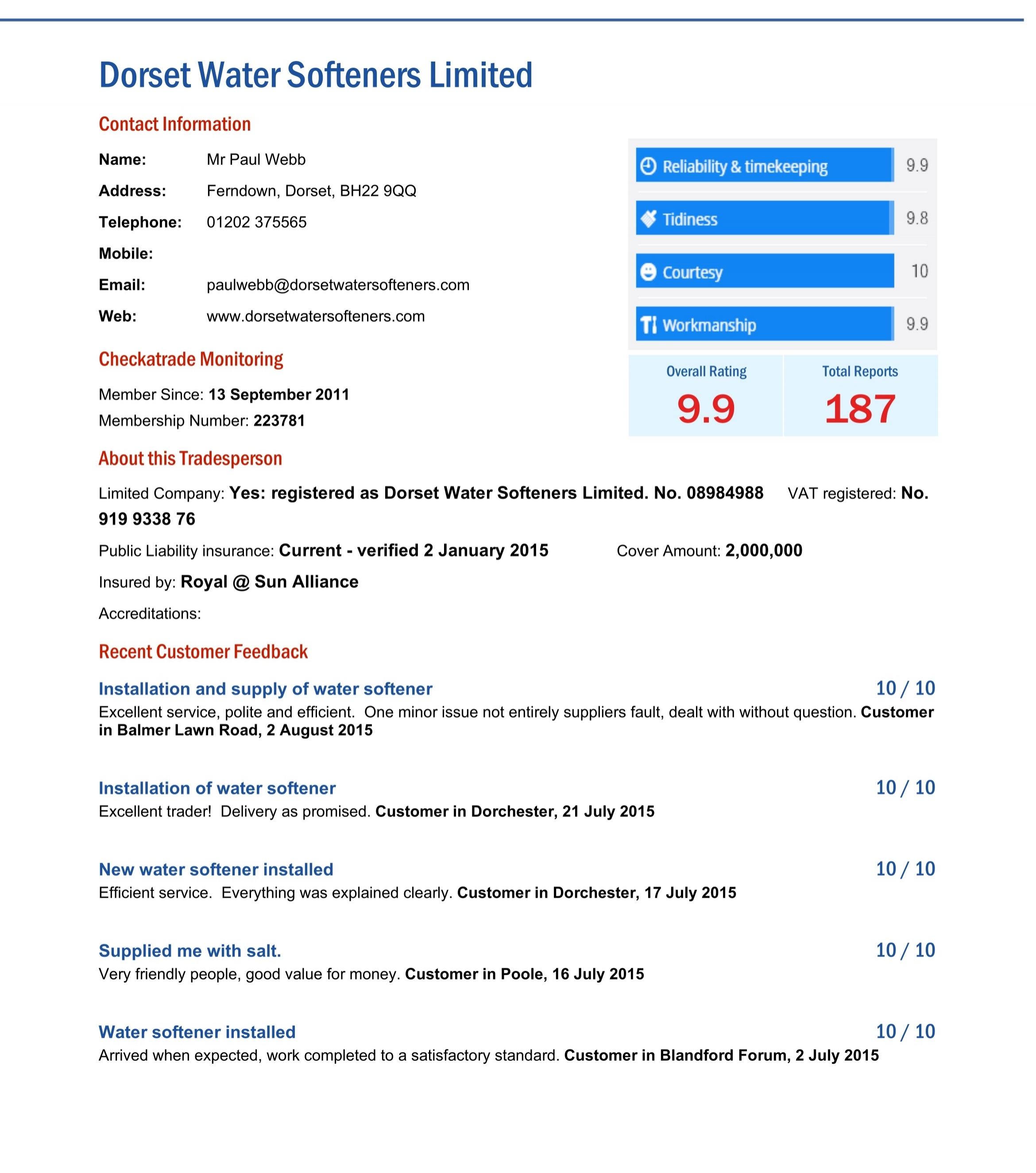 dorset water softeners top rated water softener company in dorset