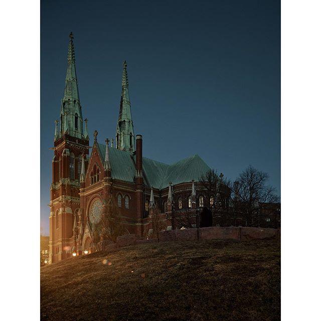 "#Johanneksenkirkko, 2019 - from the series ""#Helsinki in the #Twilight"""