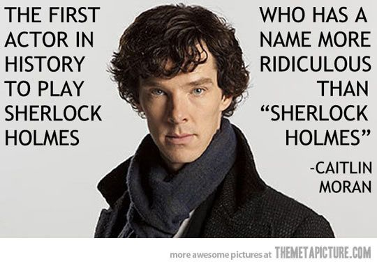 P.S. I'm a pretty big Sherlock fan....It's just so good!