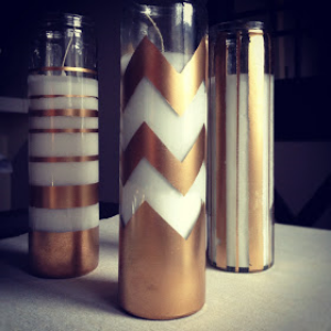 Gold Holiday Candles