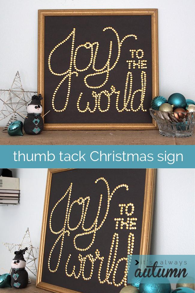 Thumbtack Christmas Sign