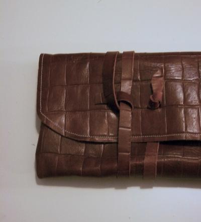 Close Up - Croc Wrap Clutch - NestingDoll.