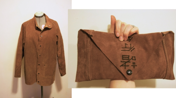 Before & After - Brown Clutch.