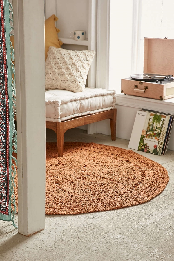 This rug is from Urban Outfitters - find it  here .