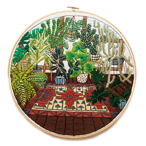 The Artist is  Sarah K. Benning  and you can read more about her beautiful  modern Interior design and houseplants series here .