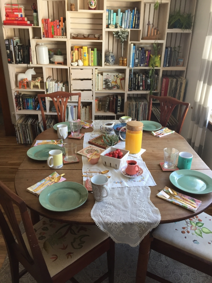 An impromptu Easter Brunch we hosted this year!