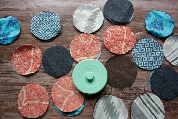 DIY Reusable Cotton Rounds from Fabric Scraps