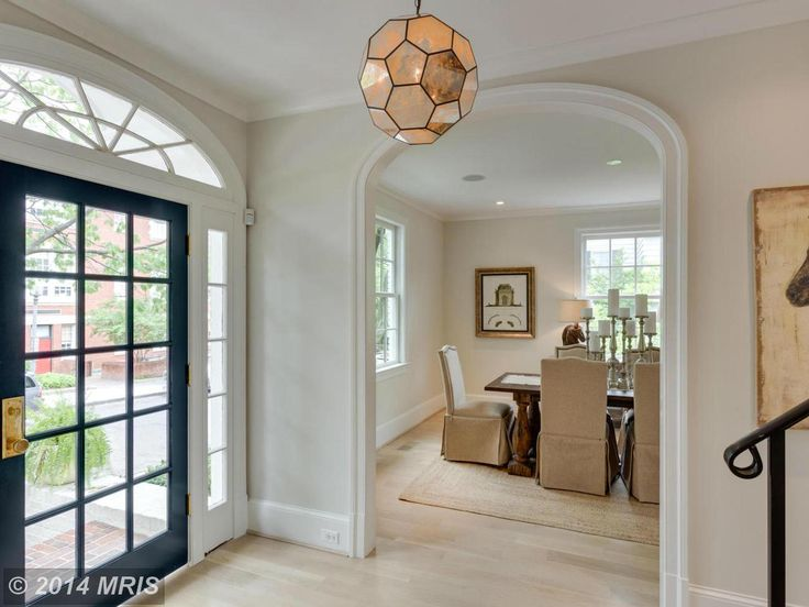 Fabulous entry with 15 pane front door