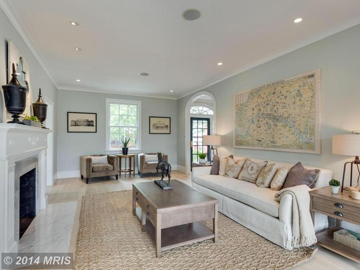 neutral but inviting formal living room