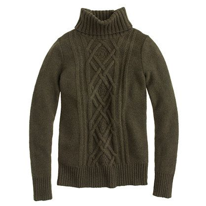 the perfect chunky, cableknit sweater